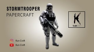 Stormtrooper (Star Wars) l Papercraft Build l Time-lapse