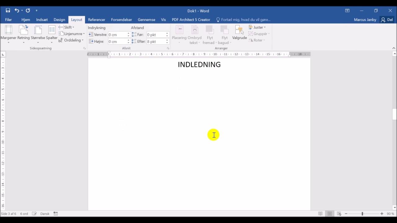 Fjern sidetal på enkelte sider i word - Nem guide 1 minut