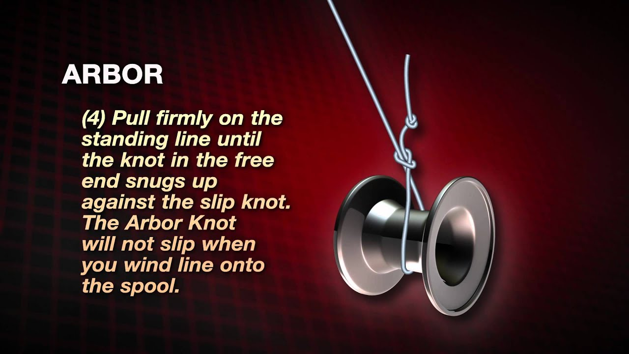 How to tie an arbor knot by abu garcia youtube for Tying fishing line to reel