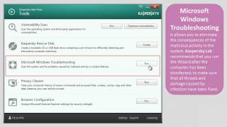 How to use Tools in Kaspersky Anti-Virus 2014