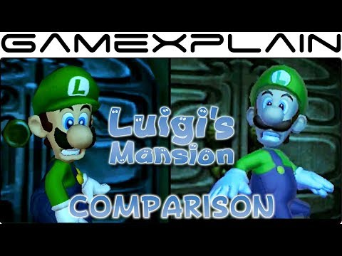 Luigi's Mansion Head-to-Head Comparison (3DS vs GameCube Graphics)
