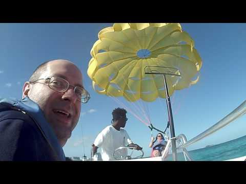 Parasailing in Nassau, Bahamas 2017
