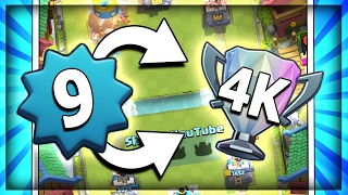THE ROAD TO 4000 AS LEVEL 9 - Ep.3 New Deck?? - Legendary Arena 10 Gameplay in Clash Royale