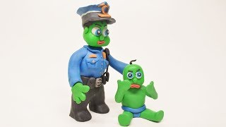 BABY SUPERHERO PLAYING POLICEMAN PLAY DOH CLAYMATION CARTOONS VIDEOS