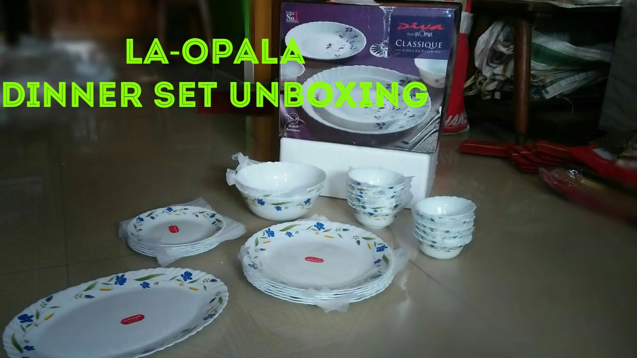 Best LAopala Dinner set under 2000rs of 27pieces in India & Best LAopala Dinner set under 2000rs of 27pieces in India - YouTube