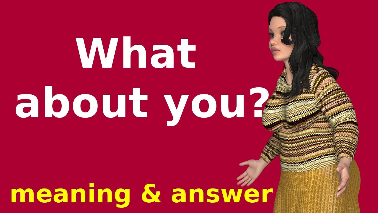 What about you meaning in Hindi | Learn English speaking | How to answer  English questions