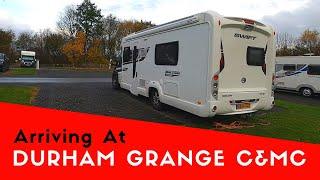 Arriving At Durham Grange Caravan And Motorhome Club Site | Malibu Scottish Tour 2019