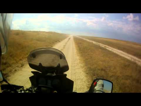 Suzuki DL 650 V-Strom off-road ride on Arabat spit, part 4