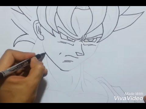 رسم شخصية غوكو في كارتون دراغون بول Youtube