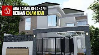 Desain Rumah Tropis Modern 2 Lantai 4 Kamar Di Lahan 10x16 M