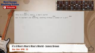 🎸 It's A Man's Man's Man's World - James Brown Guitar Backing Track with chords and lyrics