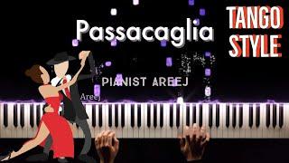 Passacaglia piano cover (tango style) видео