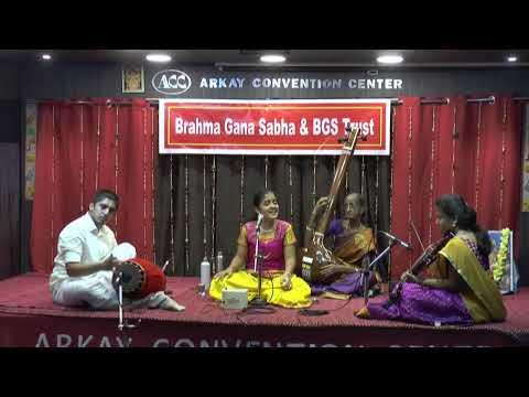 BRAHMA GANA SABHA & BGS TRUST - Spoorthi Rao Vocal