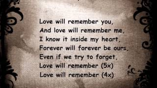 Selena Gomez - Love will remember (lyrics)