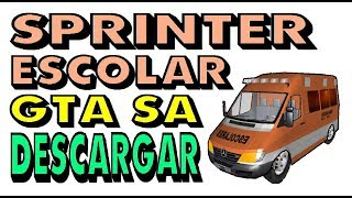 Sprinter Transporte Escolar Gta Sa Descargar Mercedes Benz Download  school transportation