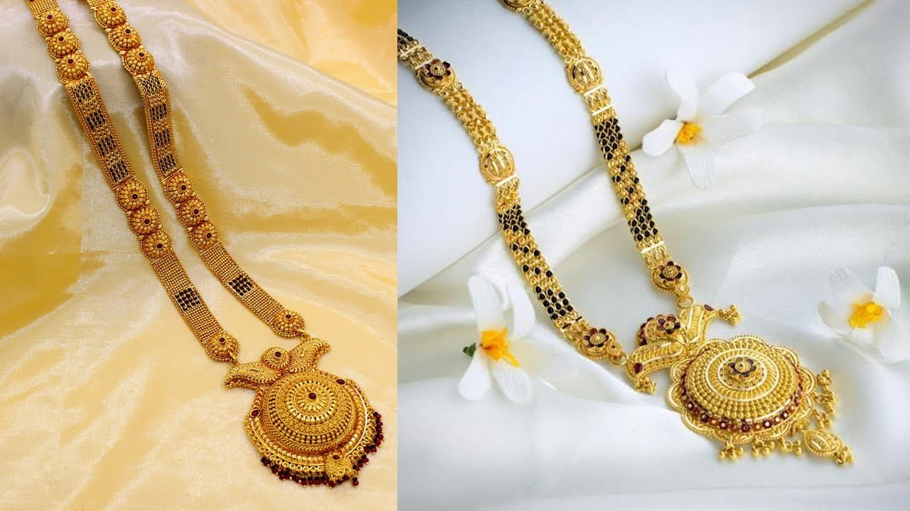 Latest 2019 Special Top Beautiful Gold Mangalsutra Designs With Weight
