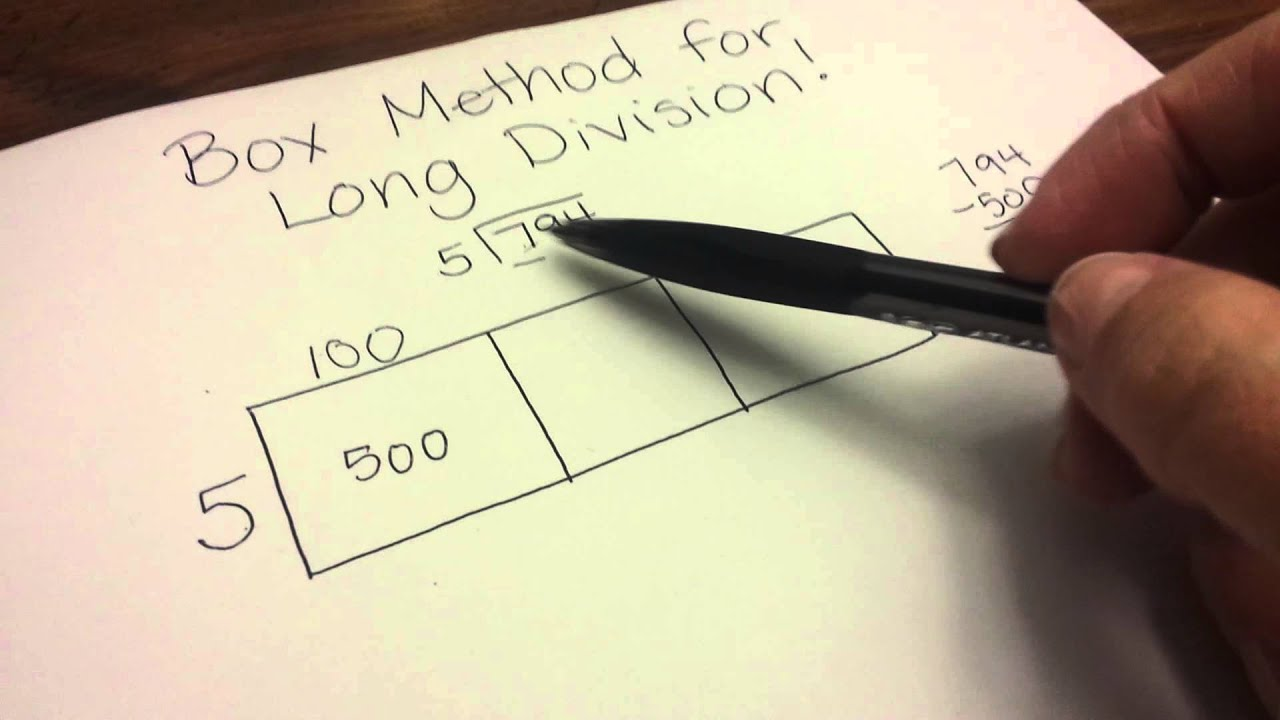 Box Method For Long Division Youtube