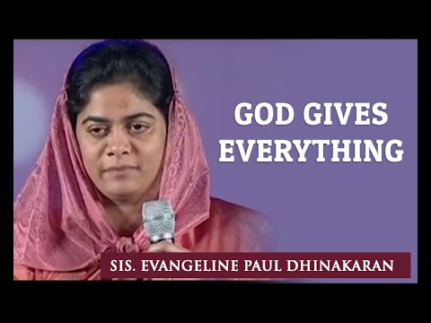 God Gives Everything (English - Hindi) | Sis. Evangeline Paul Dhinakaran