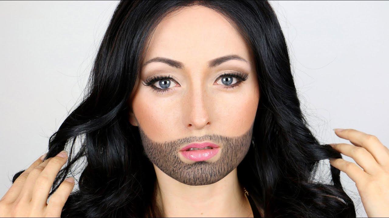 Halloween Makeup Girl With A Beard