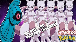 GIVEAWAY BELDUM AND 5 MEWTWO! | Roblox Project Pokemon