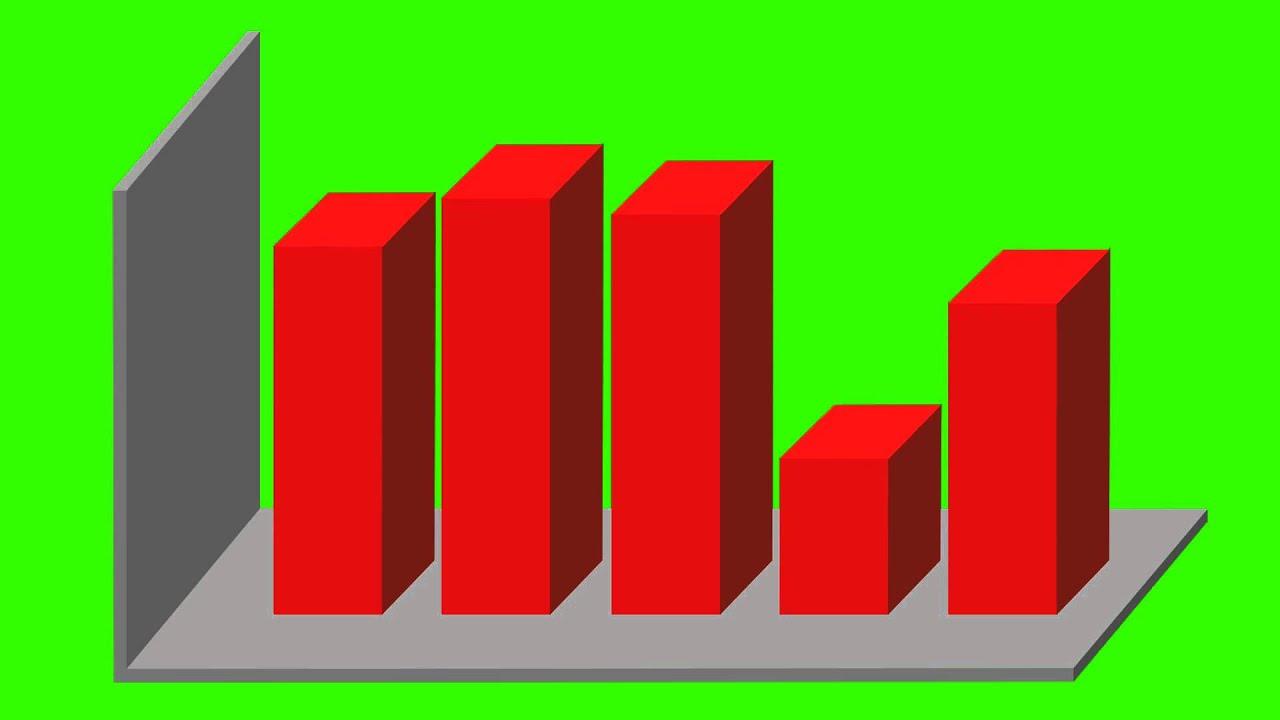 Green 3D Bar Graph