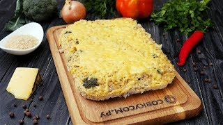 Запеканка из брокколи с рисом - Рецепты от Со Вкусом