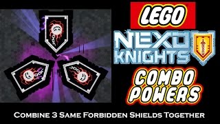 What Happens if you Combine 3 Same Forbidden Shields Together -- Nexo Combos Showcase Series 02