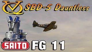 VQ SBD 5 dauntless w. Saito FG 11 & selfmade exhaust - 1st session