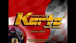 GAMEPLAY FORMULA KARTS SPECIAL EDITION @ SEGA SATURN - MODO ARCADE - KART TEAM SEGA