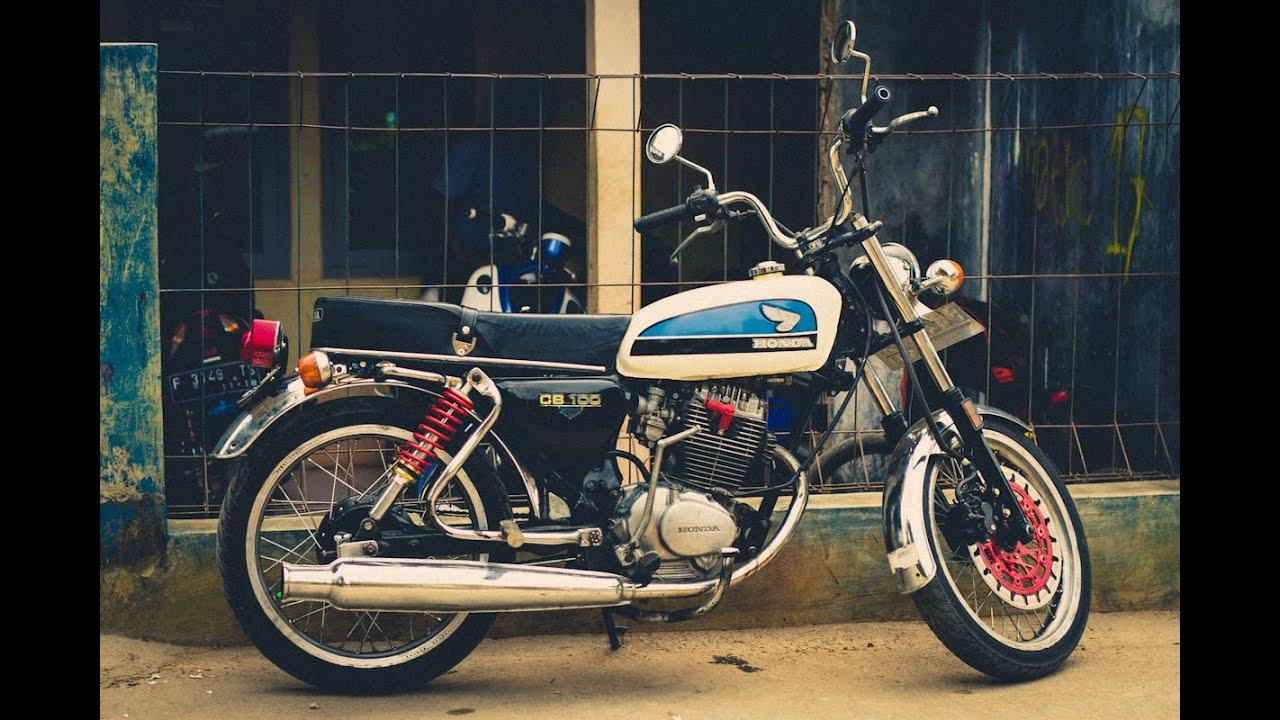 honda cb 100 1973 running (本田cb100cc) - youtube