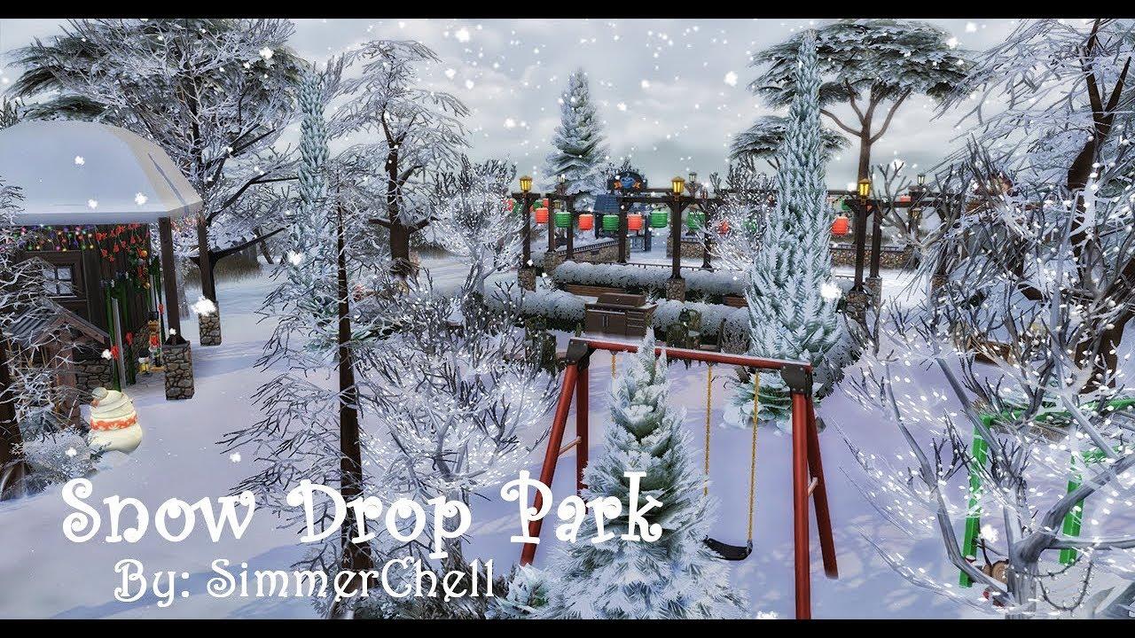 the sims 4 snow drop park seasons speed build youtube