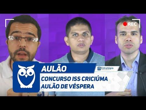 Concurso ISS Criciúma - Aulão de Véspera   Ao vivo
