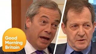 Nigel Farage and Alastair Campbell Face Off as Brexit Nears   Good Morning Britain
