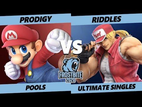 Frostbite 2020 SSBU Pools - Armada | Prodigy (Mario) Vs. Riddles (Terry) Smash Ultimate Singles
