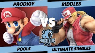Frostbite 2020 SSBU Pools - Armada | Prodigy (Mario) Vs. Riddles (Terry) Smash Ultimate Singles