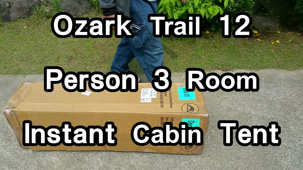 Ozark Trail 12 Person 3 Room Instant Cabin Tent
