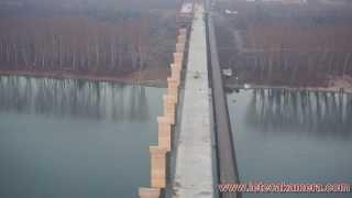 Most Zemun - Borca  snimak iz vazduha