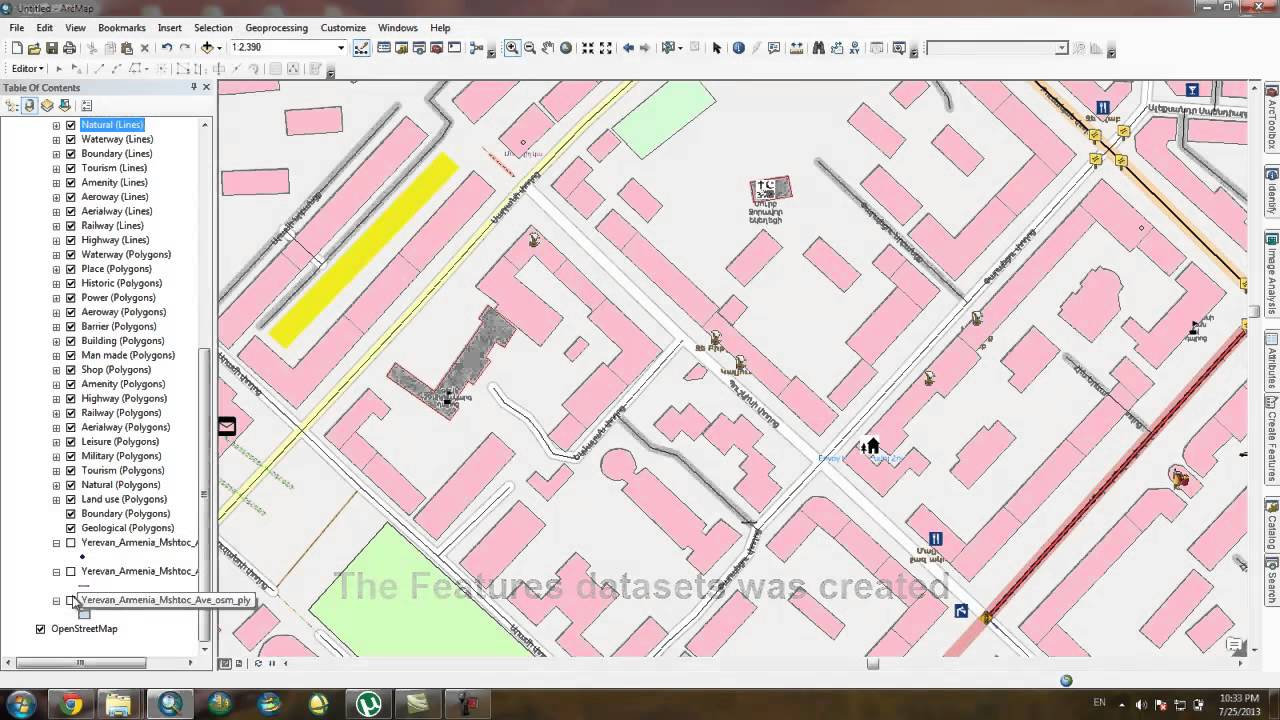 Openstreetmap into ArcGIS 10 1