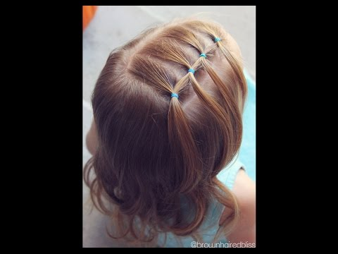 How to: Feathered Elastic - Toddler Hairstyle Tutorial | Brown Haired Bliss