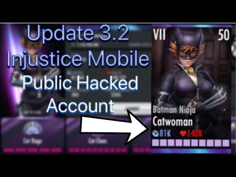Update 3 2 Injustice Mobile Batman Ninja Catwoman Hacked Account Ios Android Youtube
