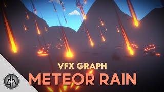 Unity VFX Graph - Meteor Rain Tutorial ( Trails + Trigger Events )