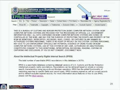 Recording Your IPR with U.S. Customs and Border Protection