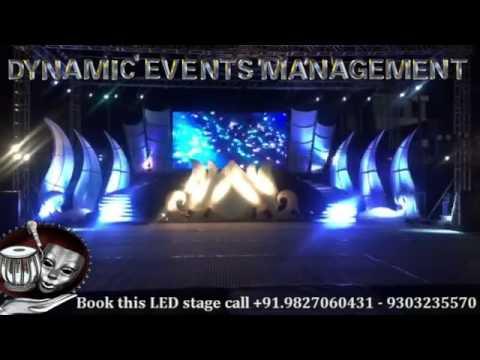 led wall stage backdrop and decor setup setup indore bhopal