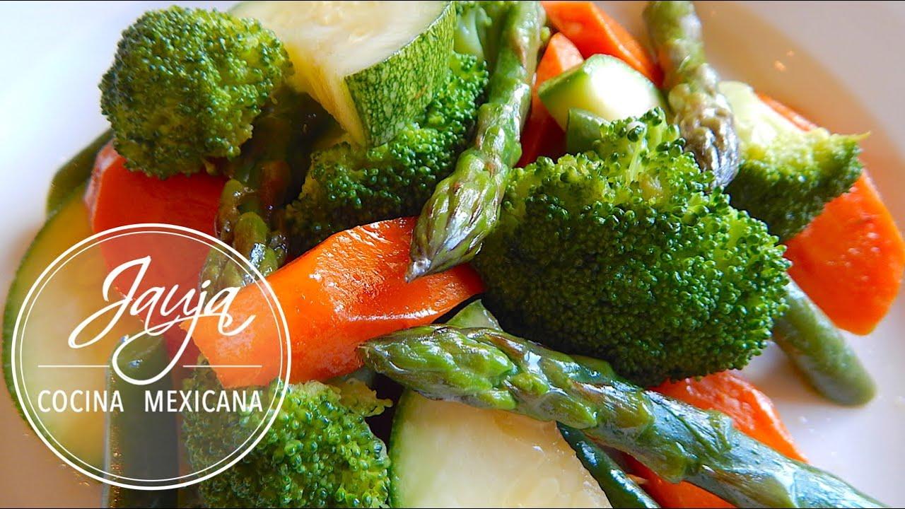 dieta de verduras al vapor