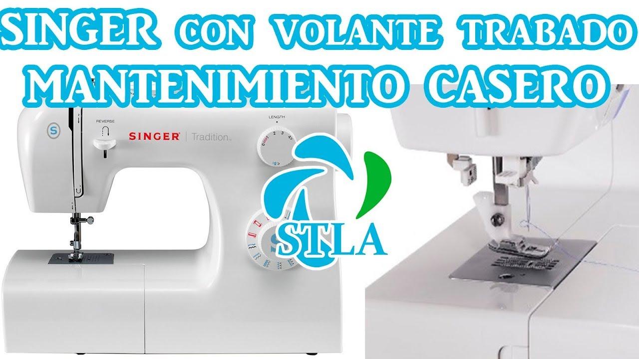MAQUINA DE COSER SINGER TRABADA/MANTENIMIENTO CASERO - YouTube
