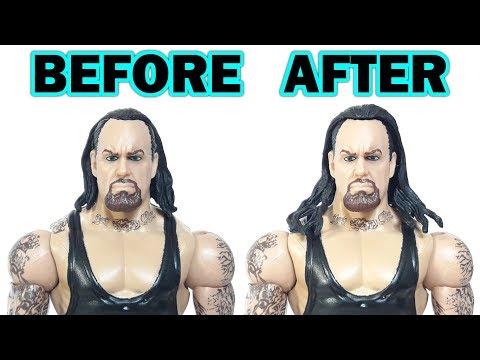 WWE CUSTOM FIGURE TUTORIAL: HOW TO SWAP HAIR ON WWE ACTION FIGURES!