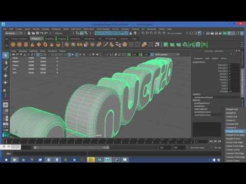 Tutorial Text Tool Autodesk Maya 2016 en Español