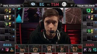 Evil Geniuses vs TSM | 2014 NA LCS Spring split S4 W4D1 G4 | TSM vs EG full game HD