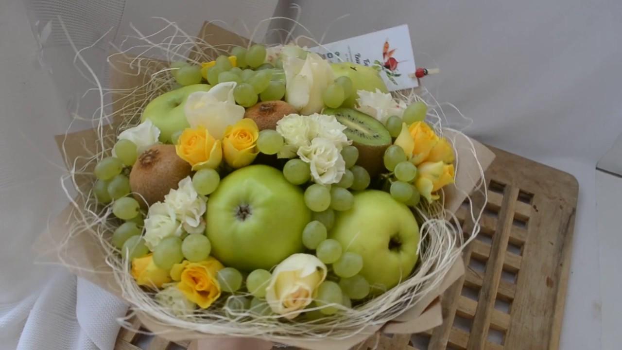 Цветок лучше, букет из яблок и груш