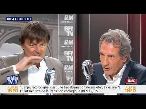 Nicolas Hulot face à Bourdin direct